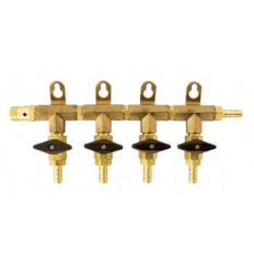 4 Valve Gas Manifold for Homebrewing Draft System