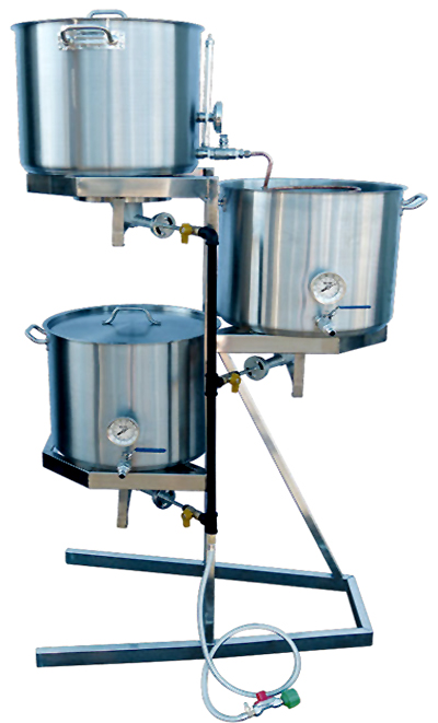 Gravity Homebrewing Rig