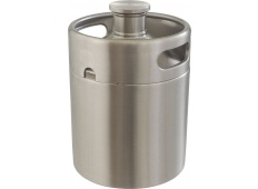 Mini Keg Style Stainless Steel Homebrew Growler Promo Code from MoreBeer