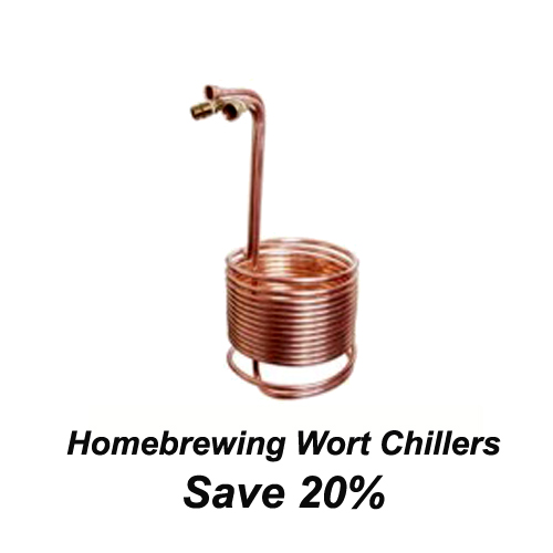 20% Off Select Homebrew Wort Chillers