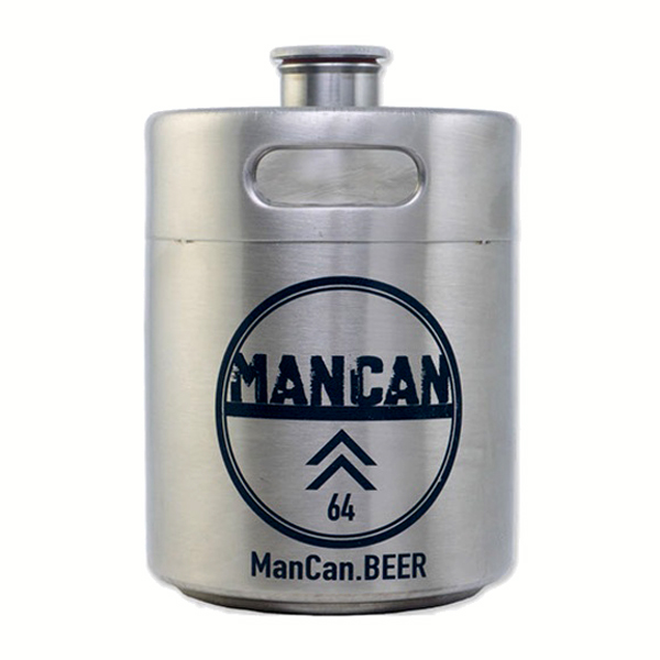 Man Can Stainless Steel Growler