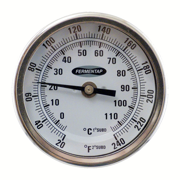 $14.99 Threaded Homebrewing Thermometer