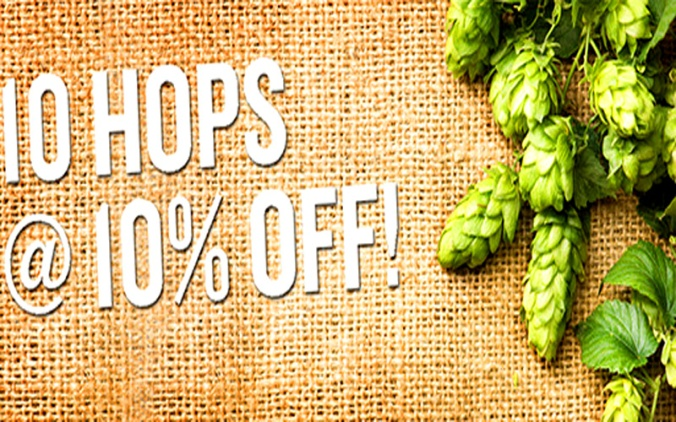 Save 10% On Hops at MoreBeer