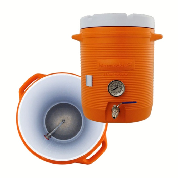 $174 Cooler Mash Tun With Thermometer