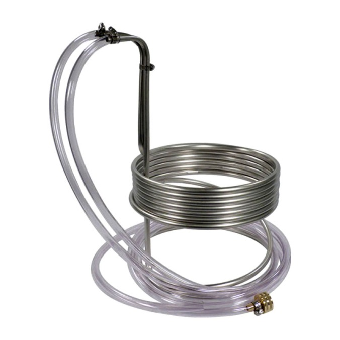 Stainless Steel Wort Chiller For $49.99