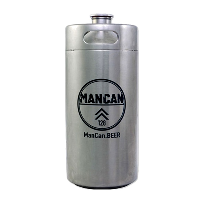 Man Can Stainless Steel Growler - Mini Keg Sale