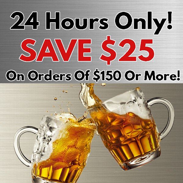Save $25 on a $150 Purchase at MoreBeer! Promo Code - Coupon Code