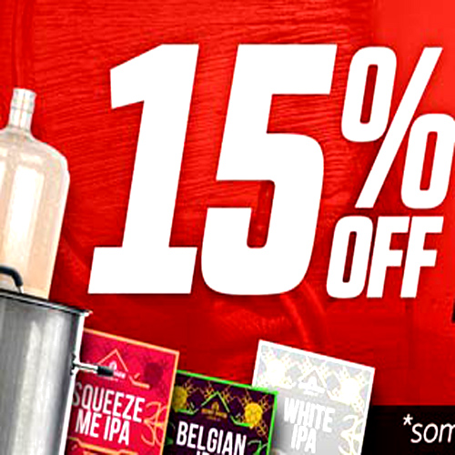 Save 15% On Your Homebrewing Order at Homebrew Supply