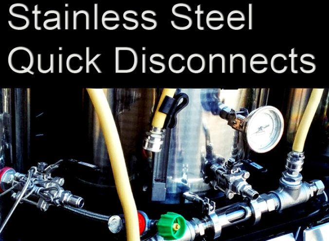 Stainless Steel Homebrewing Quick Disconnects