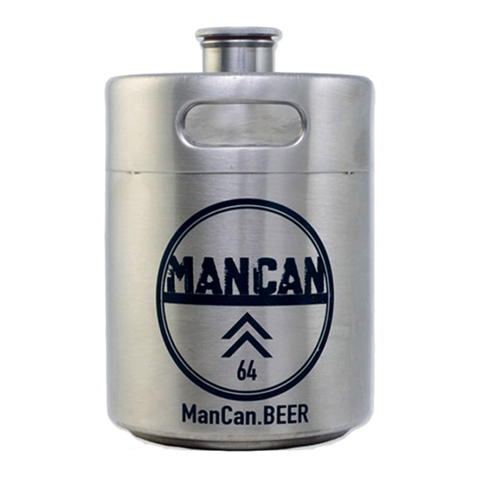 Save $7 on a Man Can Stainless Steel Growler
