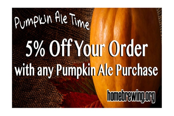 Homebrew Pumpkin Ale Kit $15 + 5% Off Site Wide