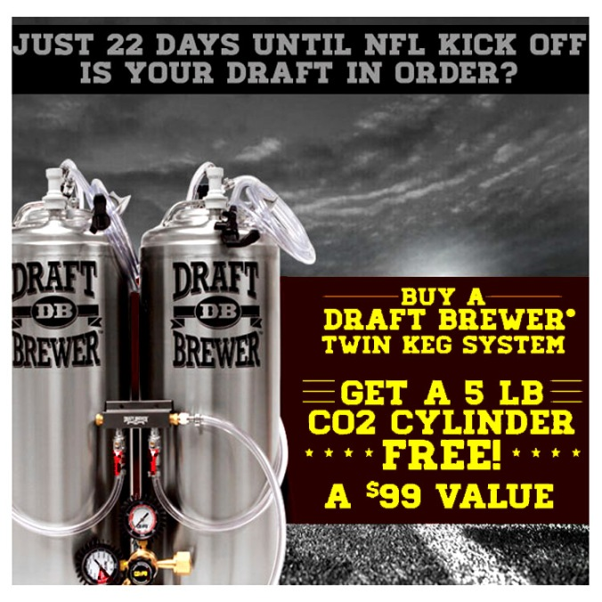 Free CO2 Tank with Purchase of a $300 Draft Beer System