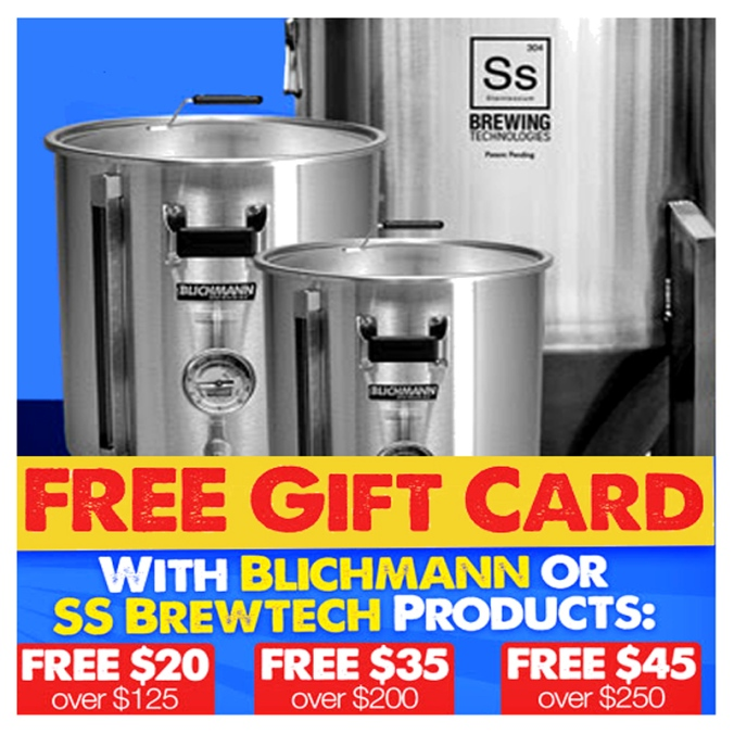 Save up to $45 on Blichmann Homebrewing and SS BrewTech Homebrew Products!