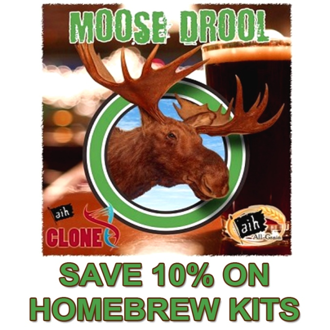5 Gallon Moose Drool Clone Homebrew Kit Just $19 - Save 10% On Popular Homebrewing Kits