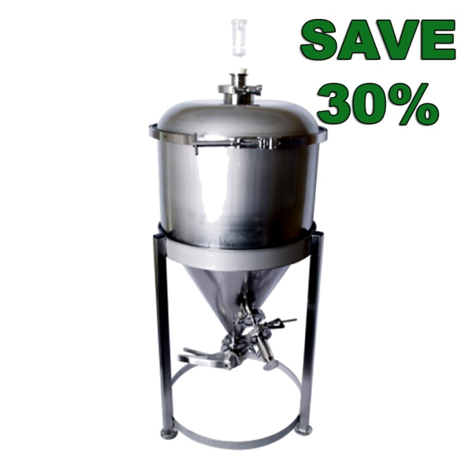 Save up to 30% On MoreBeer Stainless Steel Conical Fermenters