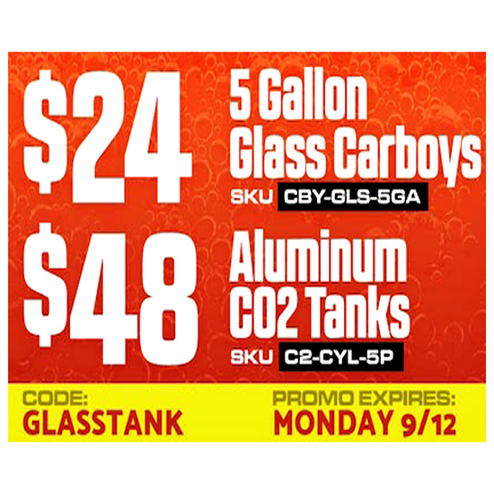 Save 20% On Glass Carboys
