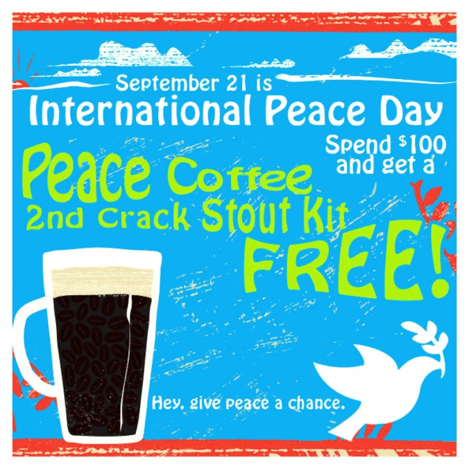 Free Coffee Stout with $100 Purchase