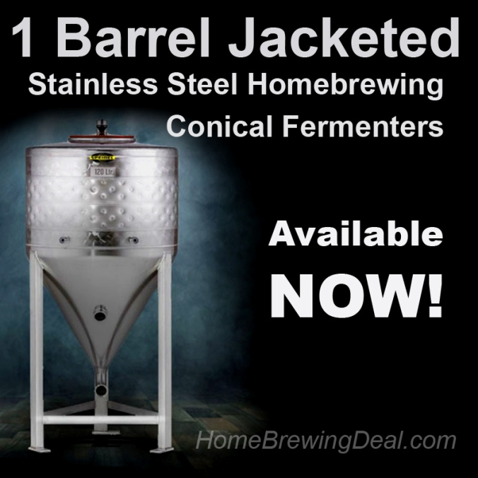 New Homebrewing Product - Jacketed 31 Gallon Stainless Steel Conical Fermenter for Homebewing