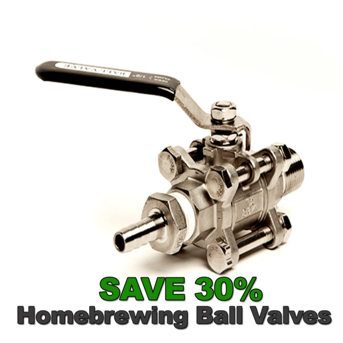 Save 30% on Stainless Steel Ball Valves and Fittings! #beer #brewing #home #brew #stainless #ball #valves #fittings #homebrewing #homebrew #brewer #brewery