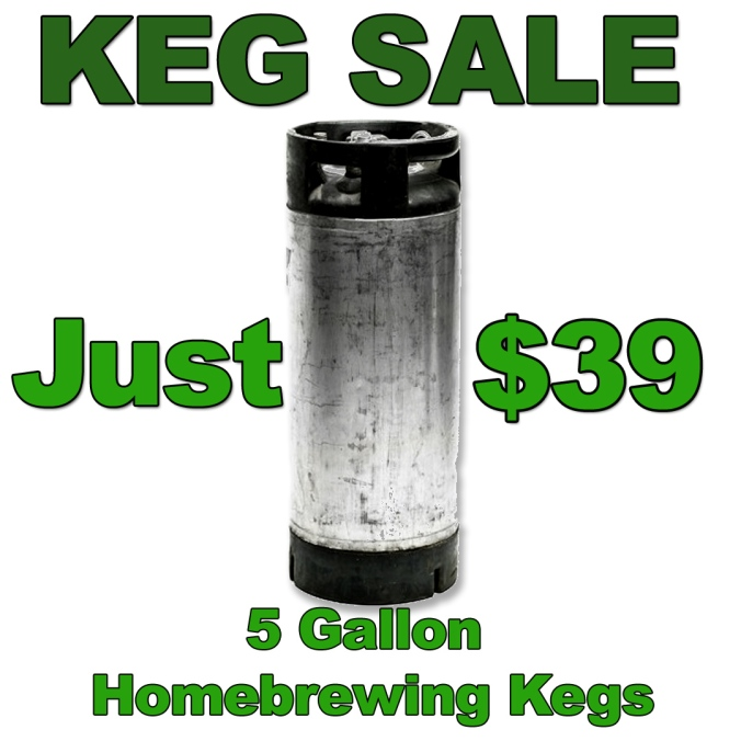 Just $39 for a Homebrewing Keg! #homebrew #home #brew #brewing #keg #sale #adventures #in #homebrewing #beer #pin #lock #sale