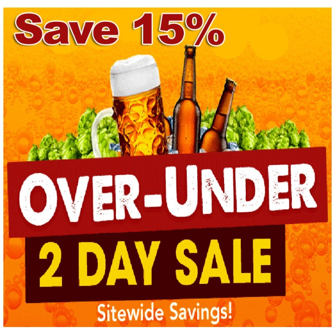 Save 15% On You Homebrewing Purchases - 2 Day Homebrew Flash Sale #homebrew #homebrewing #promocode #coupon #supply #equipment #deal #sale