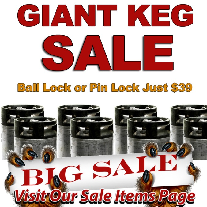 Homebrewing Keg Sale Just $39 for a Ball Lock or Pin Lock 5 Gallon Keg #homebrewing #keg #sale #promotion #deal #homebrew #5gallon