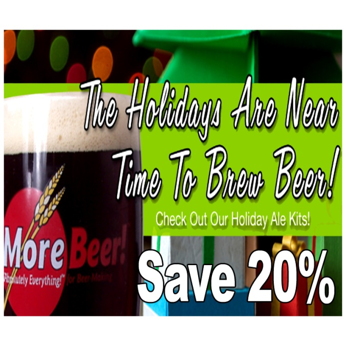 Save 20% On The MoreBeer Holiday Ale Homebrewing Beer Kit and The Thanksgiving Ale Beer Recipe Kit #homebrew #homebrewing #beer #recipe #kit #morebeer #promo #coupon #code #deal #home #brew #brewing #brewer #making