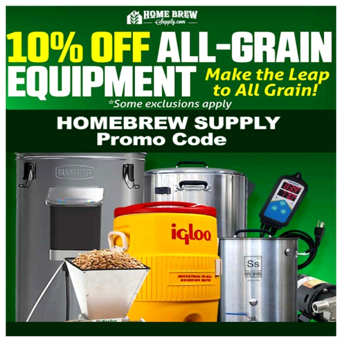 Save 10% On All Grain Brewing Equipment and Supplies Including GrainFather Brewing Systems #homebrew #supply #grainfather #brew #rig #system #setup #promo #coupon #code #sale #homebrewing