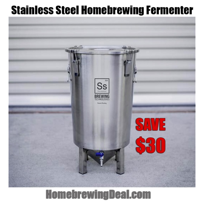 Save $30 on a Stainless Steel Home Brewing Fermenter #homebrew #homebrewing #stainless #steel #fermenter #ssbrewtech #promo #coupon #code #fermentor