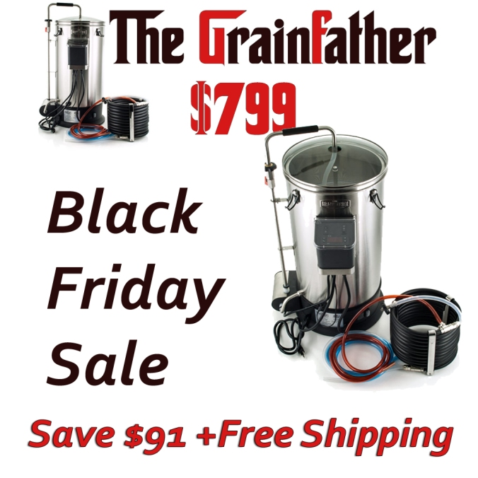 Adventures in Homebrewing Black Friday Sale - Save Big on a GrainFather Home Brewing System and Get Free Shipping #grainfather #grain #father #homebrewing #home #brewing #system #setup #promo #code #coupon #deal #homebrewer #home #brew #brewer #brewing