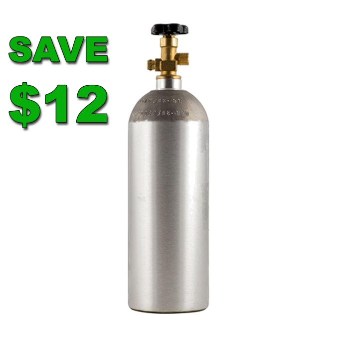 Save $12 on a 5 LBS co2 tank at MoreBeer.com #homebrew #homebrewing #draft #beer #co2 #tank #5lbs #5 #lbs #homebrewing #morebeer #home #brew #homebrew