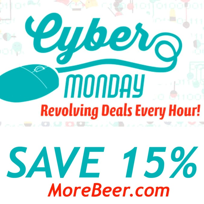 MoreBeer.com Coupon - Cyber Monday Home Brewing Sale - Save 15% On Rotating Items #homebrew #homebrewing #beer #brewing #morebeer #more #beer #cyber #monday #sale #promo #code