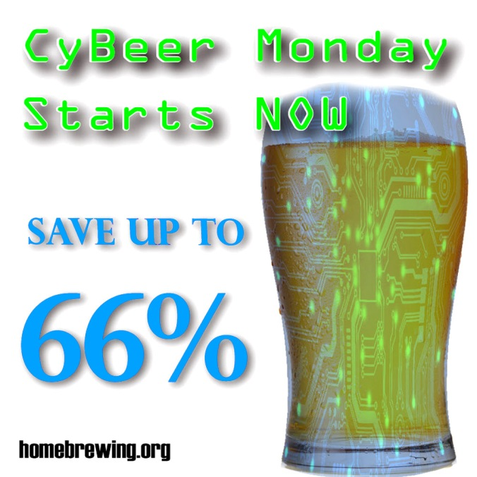 Adventures in Homebrewing Cyber Monday Sale - Save Up To 66% On Homebrewing Equipment and Supplies #adventures #in #home #brewing #homebrew #homebrewing #cyber #monday