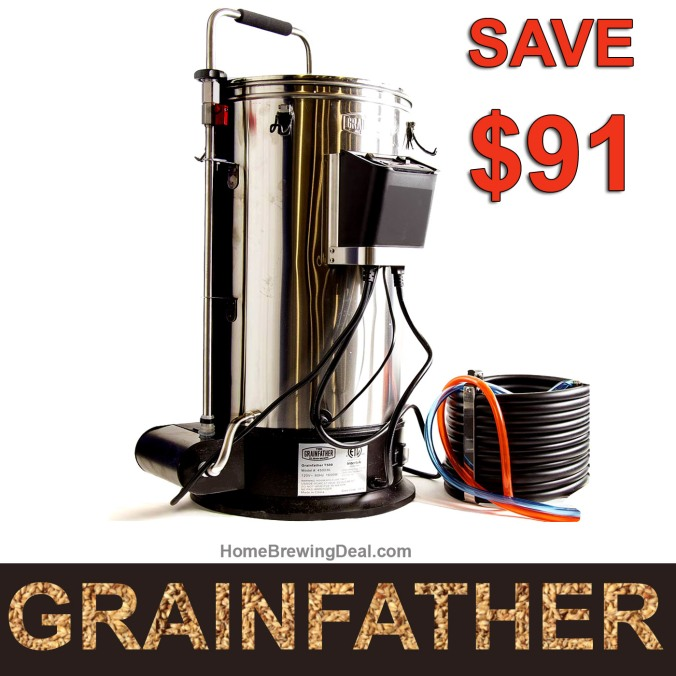 Save $91 On A GrainFather Homebrewing System + FREE Shipping #grainfather #grain #father #homebrewing #system #setup #beer #brewing #brewery #home #electric