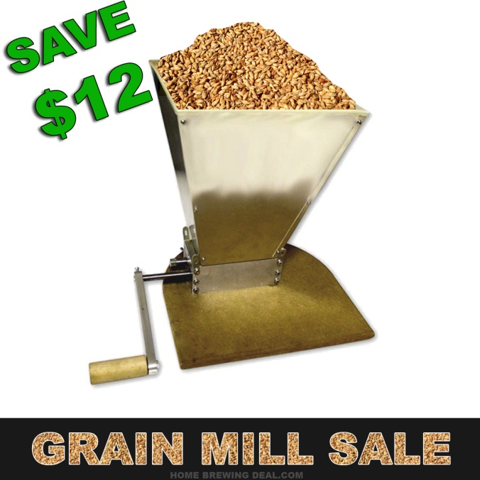 Just $88 for a brand new Home Brewing Grain Mill, Plus flat rate shipping! #home #brewing #grain #mill #beer #malt #crusher #homebrewing #homebrew #homebrewer