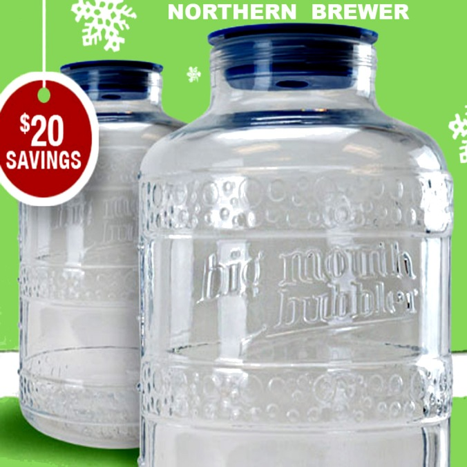 $39.99 for Big Mouth Carboys at Northern Brewer with this NorthernBrewer.com Promo Code #homebrewing #homebrew #beer #brewing #promo #codes #northern #brewer #home #brewing #carboy #wide #mouth #big #bubbler