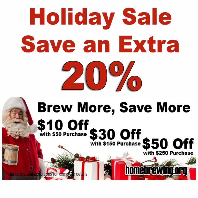 Save Up To An Additional 20% at the Adventures In Homebrewing Holiday Sale