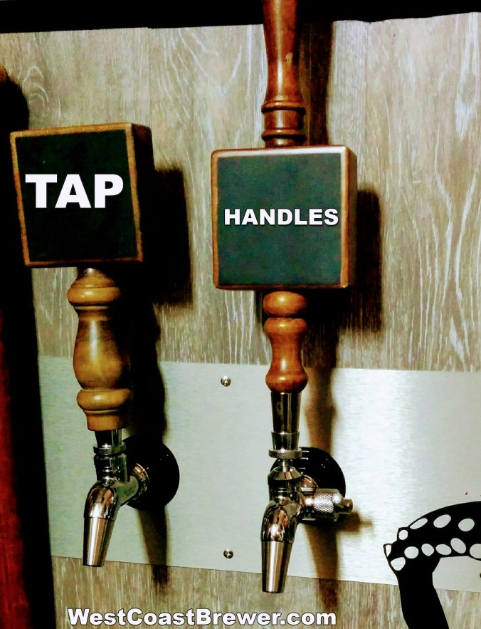 Chalkboard Beer Tap Handles