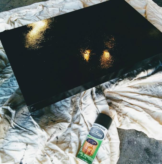 Chalkboard kegerator door