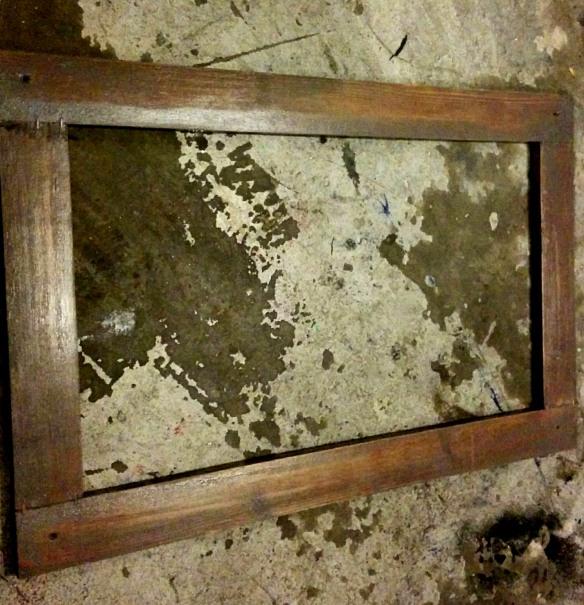 Chalkboard upper door frame for the homebrewing kegerator