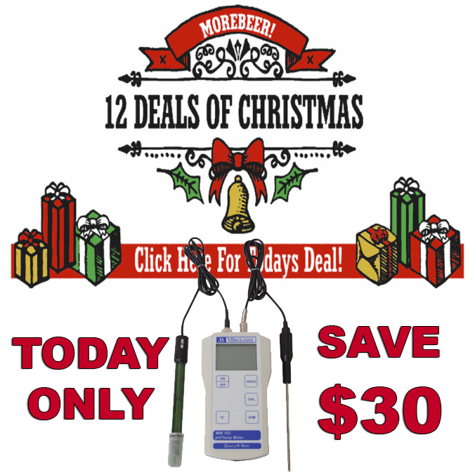 Save $30 on a Home Brewing Digital pH Meter at MoreBeer today Only!