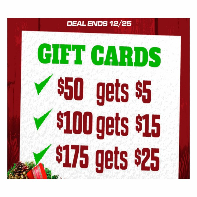 Get a Free $25 Home Brewing Gift Card with the Purchase of a Gift Card!