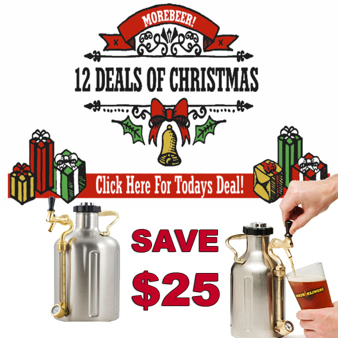 Save $25 on uKeg Pressurized Beer Growlers at MoreBeer.com!