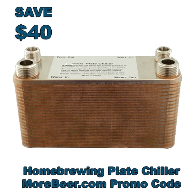 Save $40 on a new 40 Plate Wort Chiller #morebeer #plate #chiller #promo #code #free #shipping #homebrew #homebrewing #beer #wort