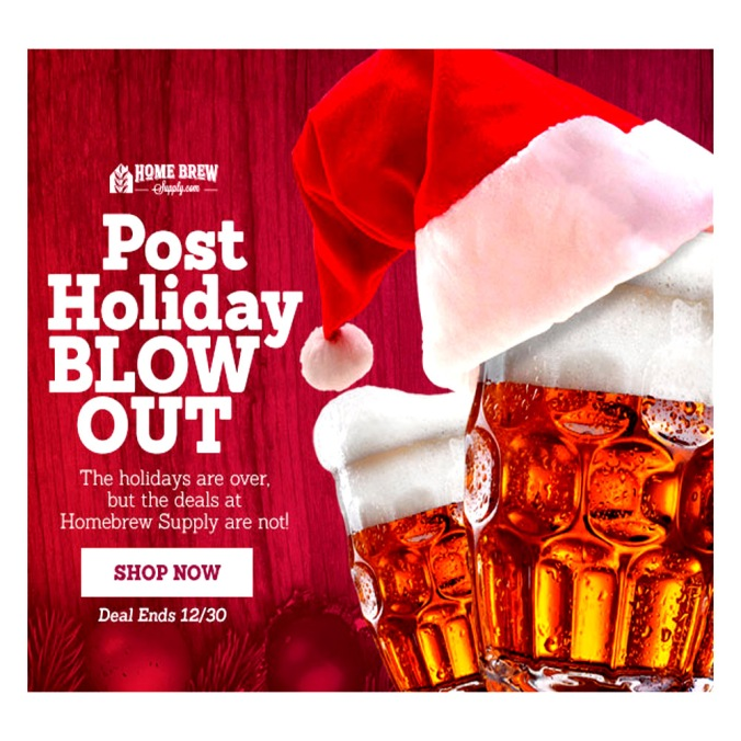 Post Holiday Homebrewing Blowout Sale!