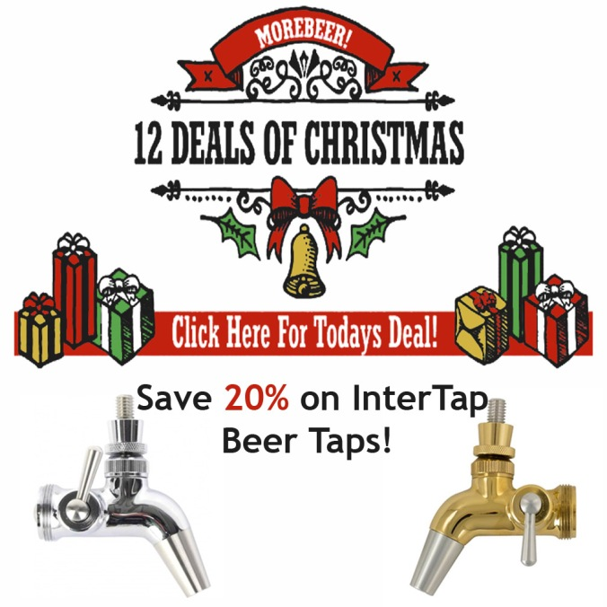 Save 20% On Intertap Beer Taps and Faucets at MoreBeer, Today Only #intertap #homebrewing #homebrew #beer #tap #draft #stainless #steel