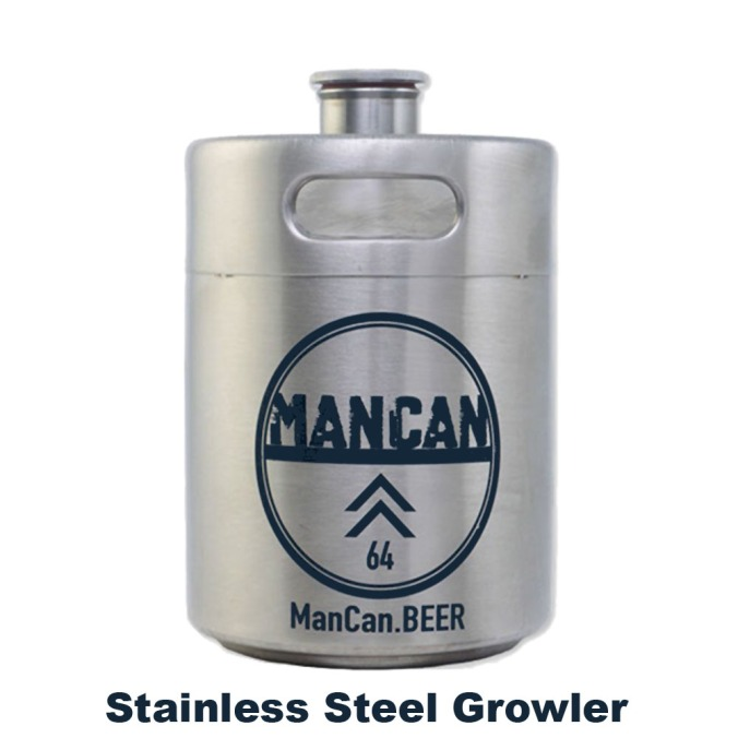Save $7 On A Man Can Stainless Steel Growler with this MoreBeer.com Promo Code #homebrewing #stainless #steel #growler #mancan #man #can #christmas #gift #idea