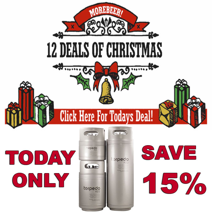 Save 15% On Torpedo Kegs at MoreBeer.com #homebrewing #homebrew #morebeer #more #beer #promo #coupon #codes