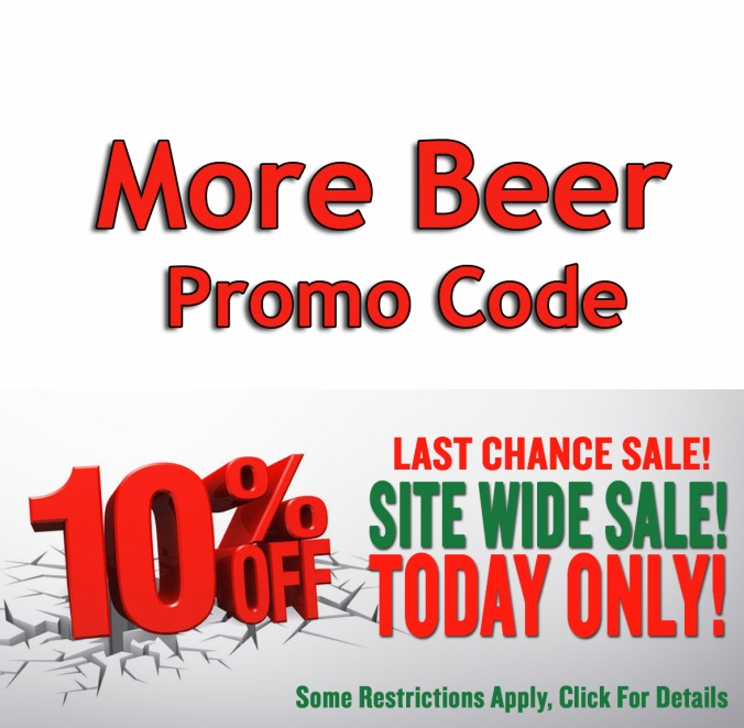 Save 10% Site Wide at MoreBeer.com With Promo Code #morebeer #more #beer #promo #coupon #code #deal #sale #homebrew #home #brew #brewing #brewer #homebrewing