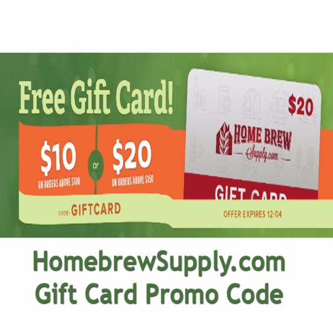Get a Free $20 Home Brewing Gift Card at HomebrewSupply.com with a qualifying homebrew purchase! #homebrew #supply #homebrewsupply #giftcard #gift #card #homebrewing #home #brewing #brew
